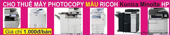 Cho thuê máy photocopy màu, in laser màu