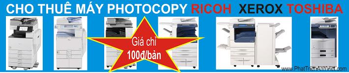Cho thuê máy photocopy đen trắng, scan màu