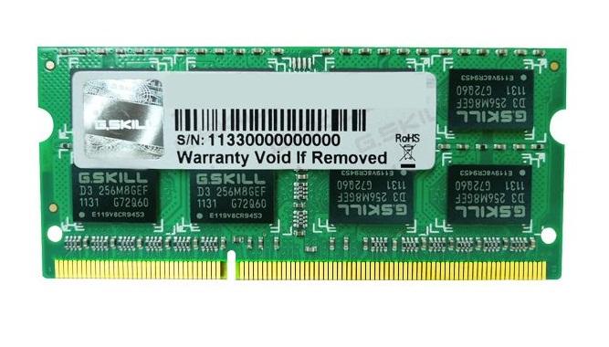 DDR3 NB 4GB (1600) G.Skill F3-12800CL11S-4GBSQ