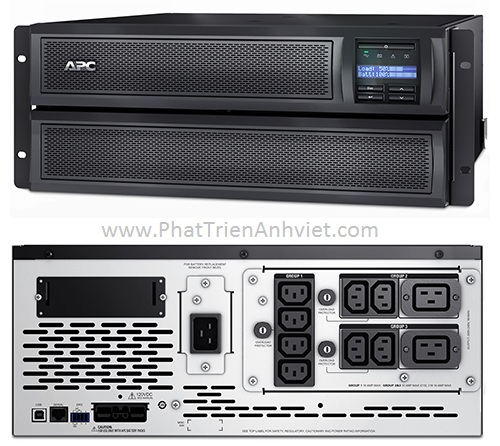 UPS/ Bộ lưu điện Tủ rack APC Smart-UPS X 3000VA / Tháp LCD 200-240V SMX3000HV