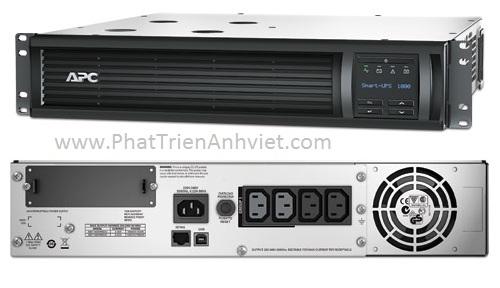 UPS/Bộ lưu điện APC Smart-UPS 1000VA LCD RM 2U 230V SMT1000RMI2U