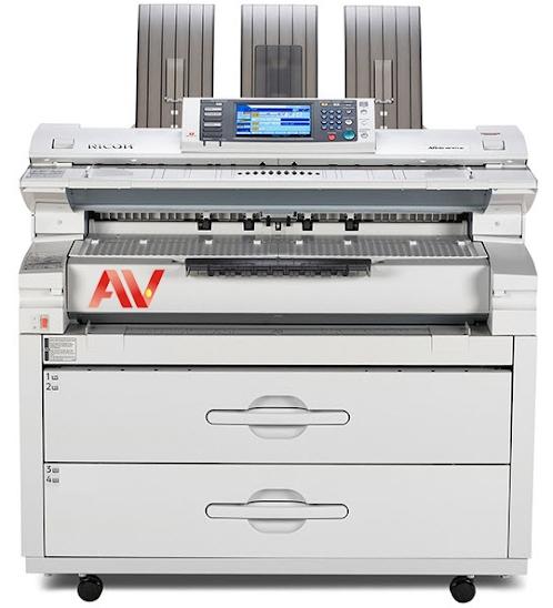 Máy photocopy khổ giấy A0 Ricoh W5100 chính hãng giá rẻ