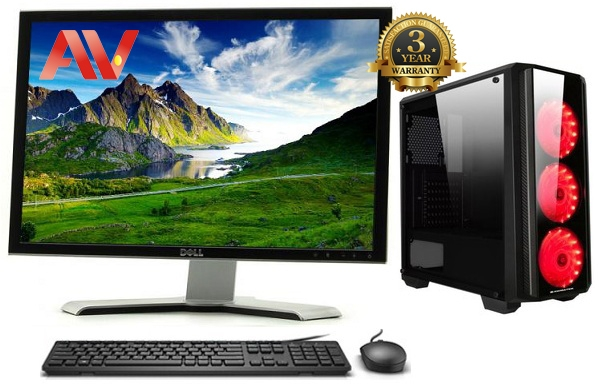 Bộ máy vi tính để bàn Desktop PC Văn Phòng Intel Core i3 9100F SSD 240GB 8GB 22 inch