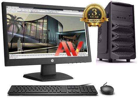 Bộ máy vi tính để bàn Desktop PC Văn Phòng Intel G4600 Ram 4GB SSD 240GB 19 inch HP V193 Led