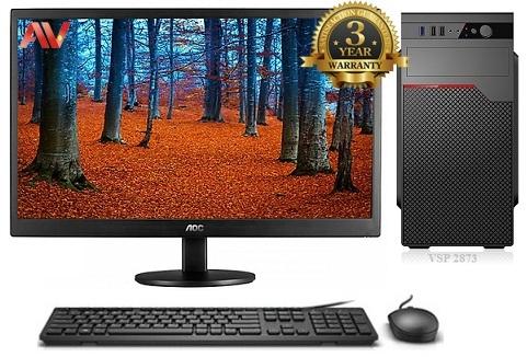 Bộ máy vi tính để bàn máy bộ kế toán văn phòng Desktop Intel Core i3 4150 Ram 4GB SSD 120GB HDD 500GB LCD 19inch AOC E970SWN Led
