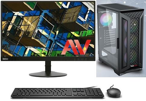 Bộ máy vi tính để bàn PC máy bộ đồ họa Gaming online Desktop Intel Core i5 2400 Ram 8GB SSD 120GB HDD 500GB Lenovo ThinkVision 22inch S22e-19 Full HD
