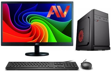 Bộ máy vi tính để bàn PC máy bộ giá rẻ văn phòng Desktop Intel G2030 Ram 4GB HDD 250GB LCD 19 inch AOC E970SW