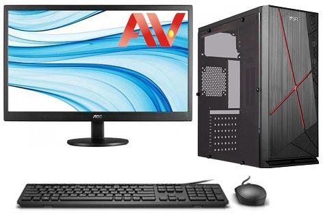 Bộ máy vi tính để bàn PC máy bộ kế toán cấu hình cao i7 Desktop Intel core i7 2600 Ram 8GB SSD 120GB HDD 500GB LCD 19 inch AOC E970SW