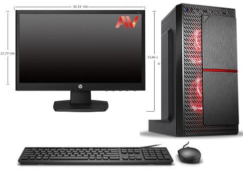 Bộ máy vi tính để bàn PC máy bộ kế toán Desktop Intel Core i3 2100 Ram 4GB HDD 500GB LCD HP V193B Led