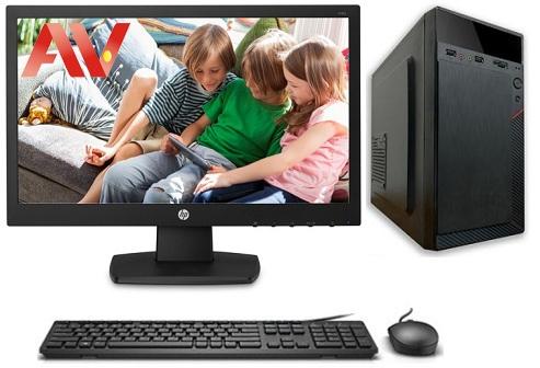 Bộ máy vi tính để bàn PC máy bộ văn phòng Desktop Intel Core i3 2120 Ram 8GB SSD 120GB HDD 500GB LCD HP V193B Led