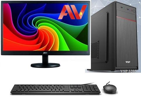 Bộ máy vi tính để bàn PC máy tính văn phòng Desktop Intel Core i5 3470 Ram 4GB SSD 120GB LCD 19 inch AOC E970SW Led