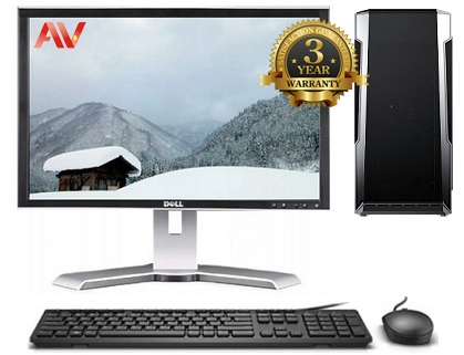 Bộ máy vi tính để bàn văn phòng Desktop 10th Intel Core i5 10400 Ram 8GB SSD 240GB HDD 1TB LCD Dell UltraSharp 22 inch 2208WFP WIDE