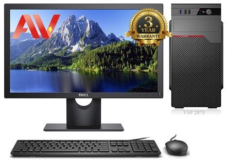 Bộ máy vi tính văn phòng thế hệ 8 để bàn Desktop Intel Core i3 8100 Ram 4GB SSD 120GB HDD 500GB LCD 19inch Dell E1916HV