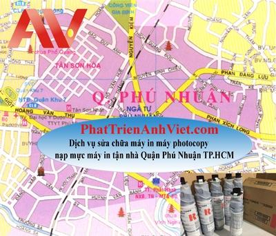 Dịch vụ sửa chữa máy in nạp mực máy in tận nhà Quận Phú Nhuận TP.HCM