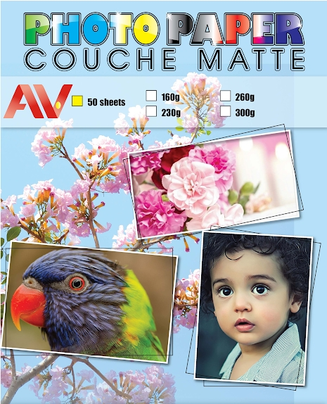 Giấy couche mờ 260g A3