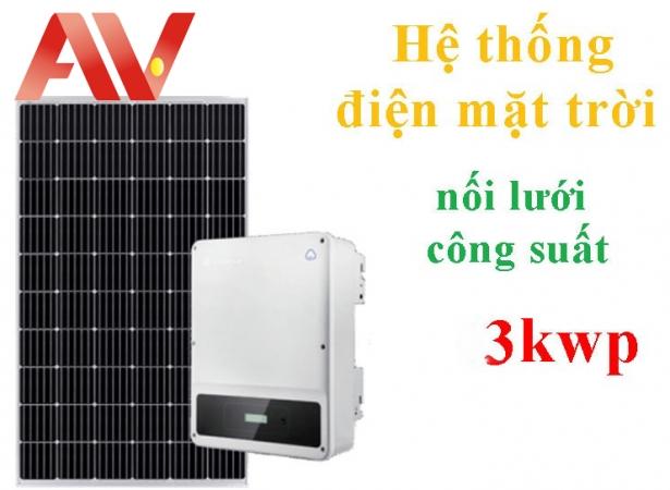 Hệ thống điện năng lượng mặt trời 3 kwp không lưu trữ