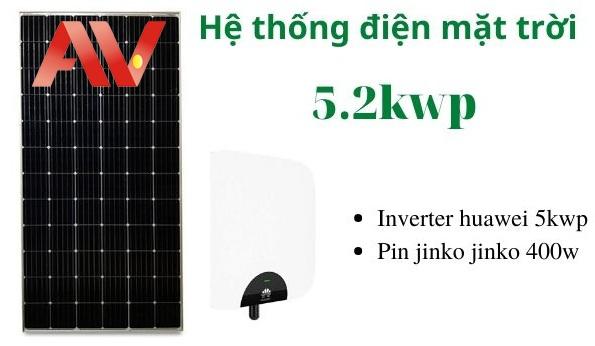 Hệ thống điện năng lượng mặt trời 5.2kwp