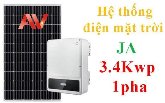 Hệ thống pin năng lượng mặt trời JA 3.4Kwp 1pha