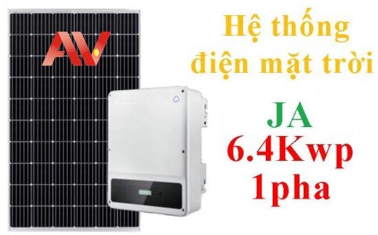 Hệ thống pin năng lượng mặt trời JA 6.4Kwp 1pha