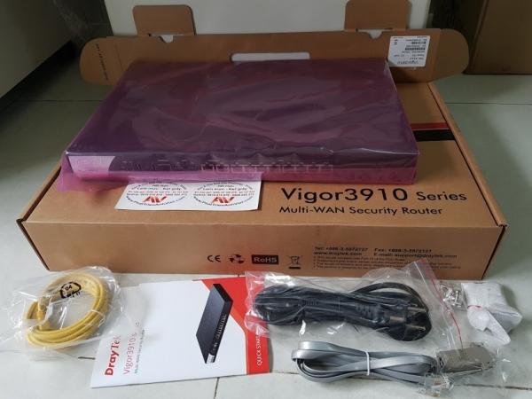 High Performance 10G Router Router DrayTek Vigor3910 Router VPN Multi-WAN 10Gb hiệu năng cao cho doanh nghiệp