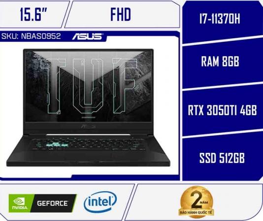 Laptop Asus TUF Dash F15 FX516PE-HN005T (Core i7-11370H | 8GB | 512GB | RTX 3050Ti 4GB | 15.6 inch FHD | Win 10 | Xám)