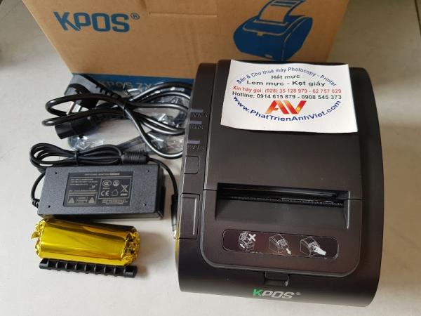 Máy in hóa đơn KPOS ZY307 (Nhập khẩu) máy in bill tính tiền siêu thị quán cafe KPOS ZY307