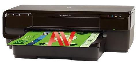 Máy in Wifi màu khổ giấy A3 HP Officejet 7110 WF Eprint CR768A