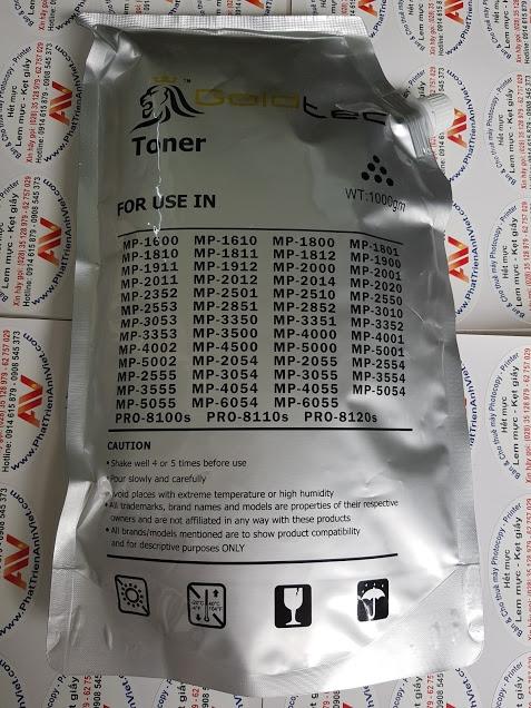 Mực gói goldtec chính hãng dùng nạp cho máy photocopy Ricoh Aficio MP-6055 MP-6504 MP-5055 MP-5054 MP-4055 MP-4054 MP-3555