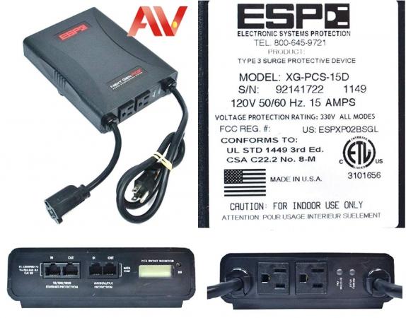 Ricoh ESP SurgeX XG-PCS-15D Next Gen PCS - Line conditioner - AC 120 V - USB - 3 output connector(s)