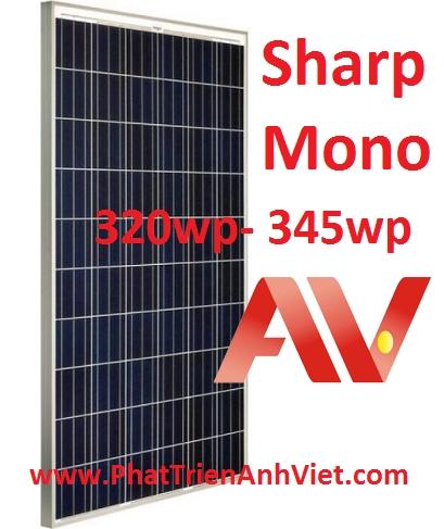 Tấm pin năng lượng mặt trời Sharp 320wp- 345wp Mono